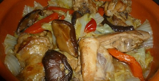 Wombok with Braised Chicken and Mushroom 2