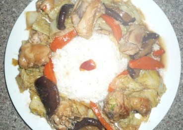 Wombok with Braised Chicken and Mushroom 3