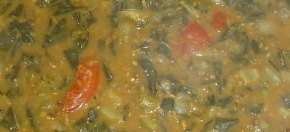 mung dhal and spinach 1