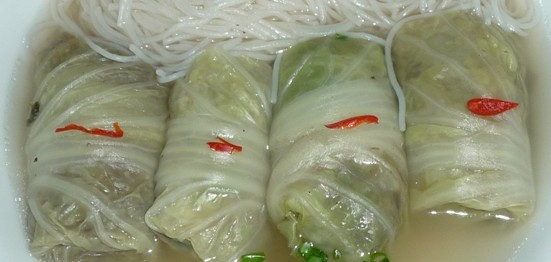 new wombok wrapped chicken and mushroom in chicken broth 1
