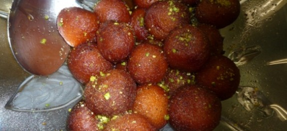 Gulab Jamun in Strawberry flavour syrup 6