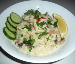 Mushroom Risotto in rice cooker 1