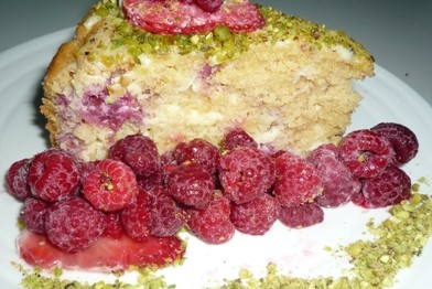 No sugar white chocolte & raspberry cake 4