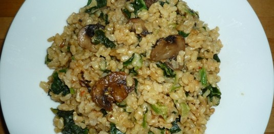 CF48of60 Brown Rice Risotto with mushrooms n spinach2