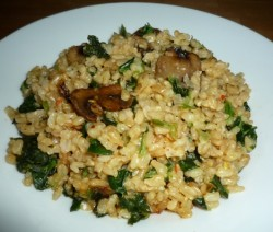 CF48of60 Brown Rice Risotto with mushrooms n spinach4