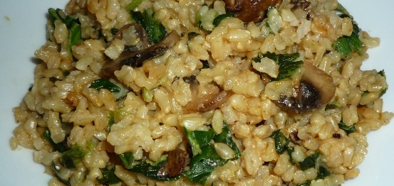 CF48of60 Brown Rice Risotto with mushrooms n spinach5