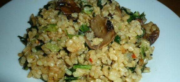 CF48of60 Brown Rice Risotto with mushrooms n spinach6