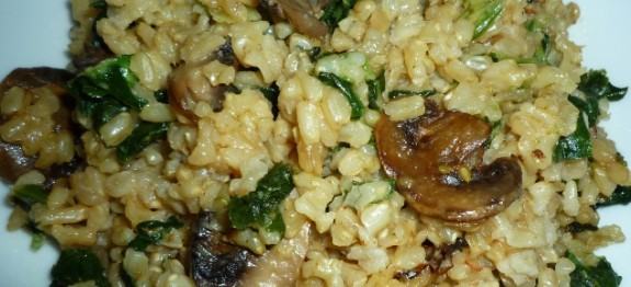 CF48of60 Brown Rice Risotto with mushrooms n spinach8