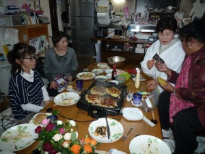 With Raito's Family cooking Okonomiyaki