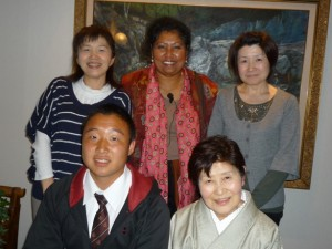 Raito's Family with grandma, mum Chiyo and Aunt