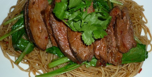 Kangaroo Steak and Rice Vermicelli Noodles2
