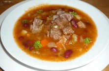BEEF SOUP WITH MIXED VEGETABLES AND RED BEANS3